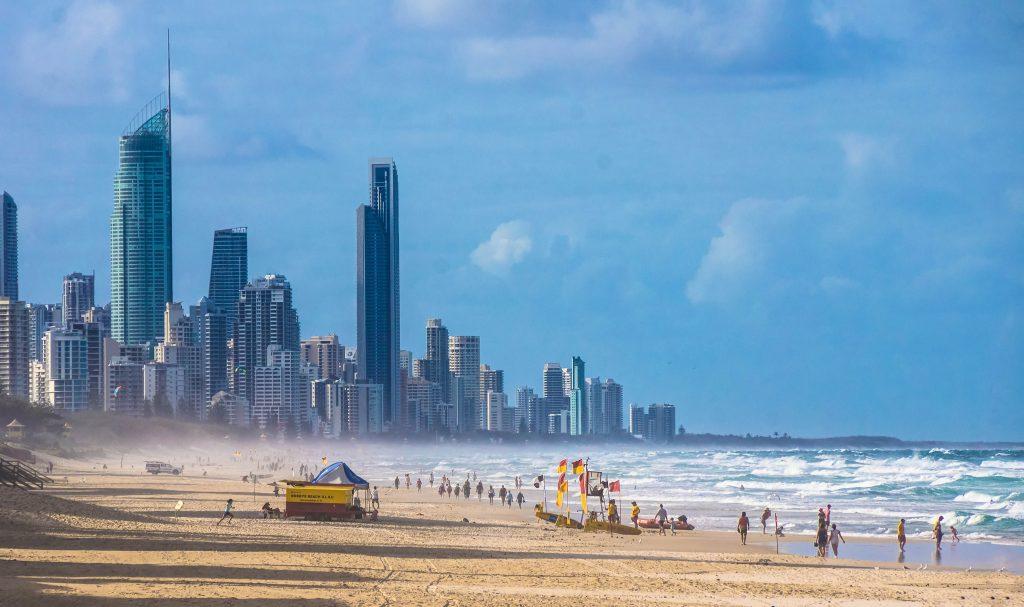 Beach at Gold Coast, Australia.
