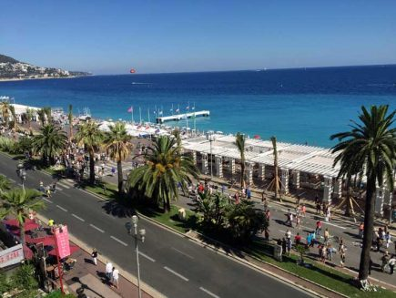 Promenade D´Anglais in Nice 17th of July 2016.