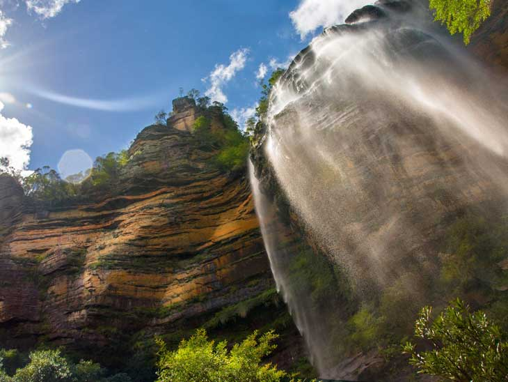 Blue Mountains waterfall.
