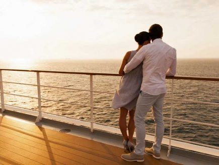 Getting married on a cruise ship can be extremely romantic!