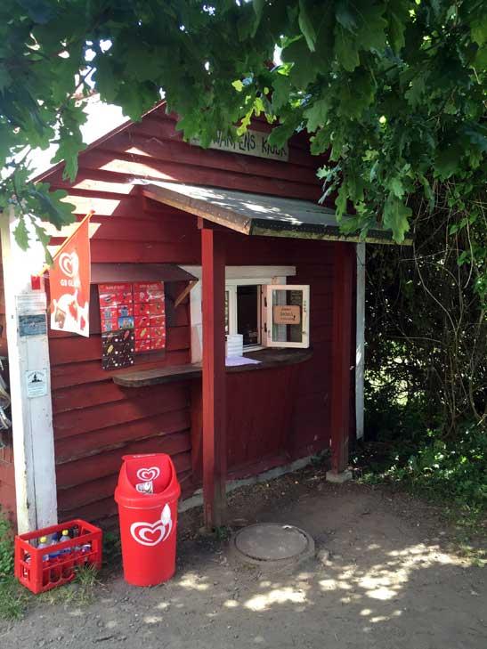 Banvaktens kiosk in Fyledalen.