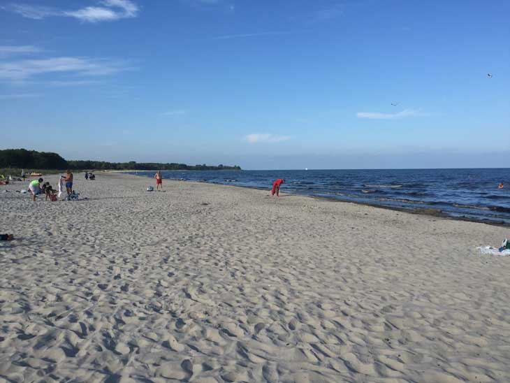 Borrby Strand in southern-most Sweden.
