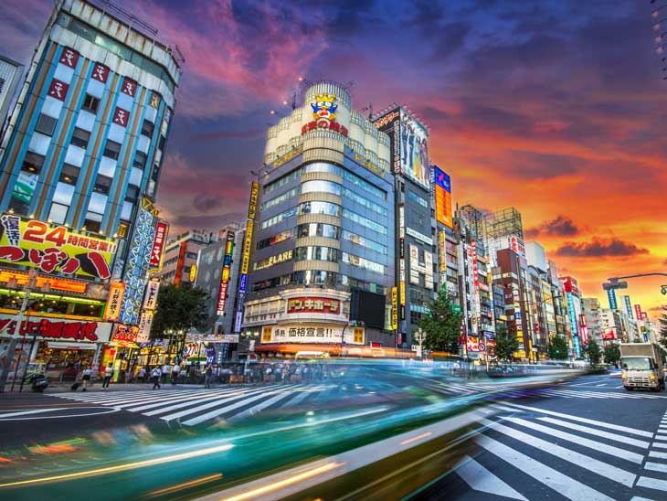 Street in Tokyo.