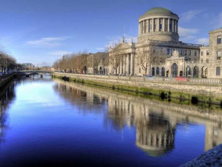 Four Courts by River Liffery in Dublin