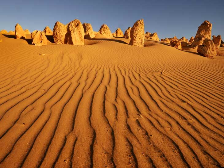 Pinnacles desert in Western Australia.