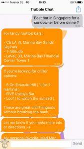 Screen shot of Trabble chat.