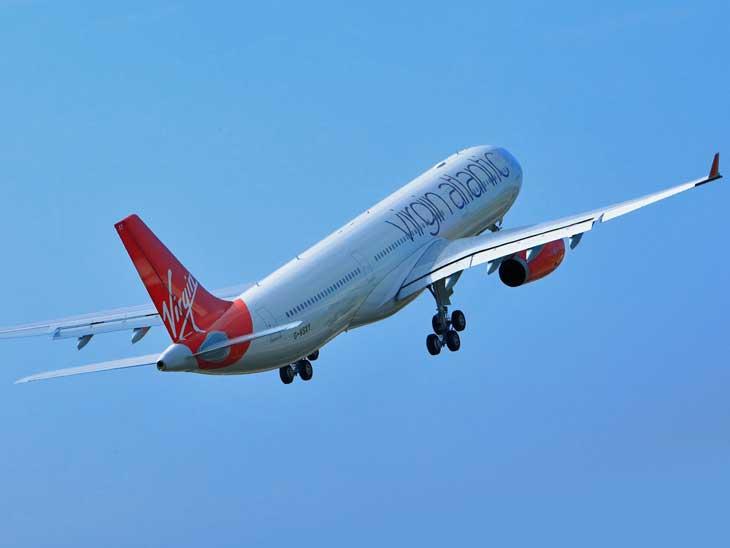 Virgin Atlantic A330 taking off.