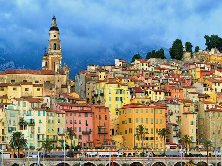 Menton on the French Riviera.