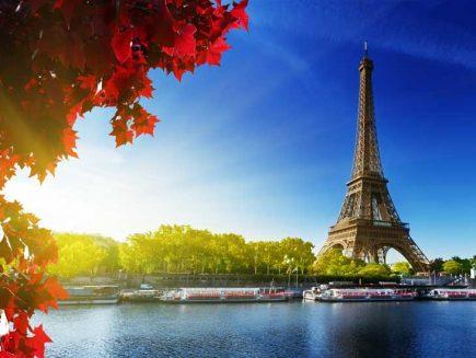 Paris in autumn colors.