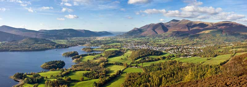 Panorama over Keswick. Image courtesy of Wikipedia.