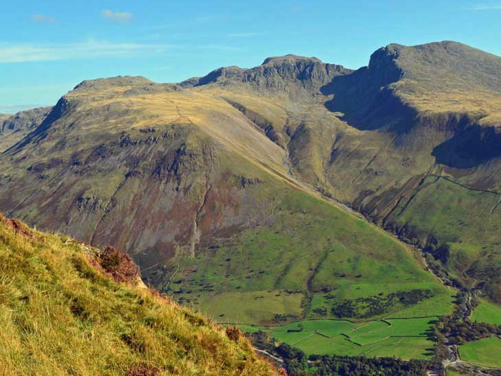 Scafell Massif in Lake District. Image courtesy of Wikipedia.