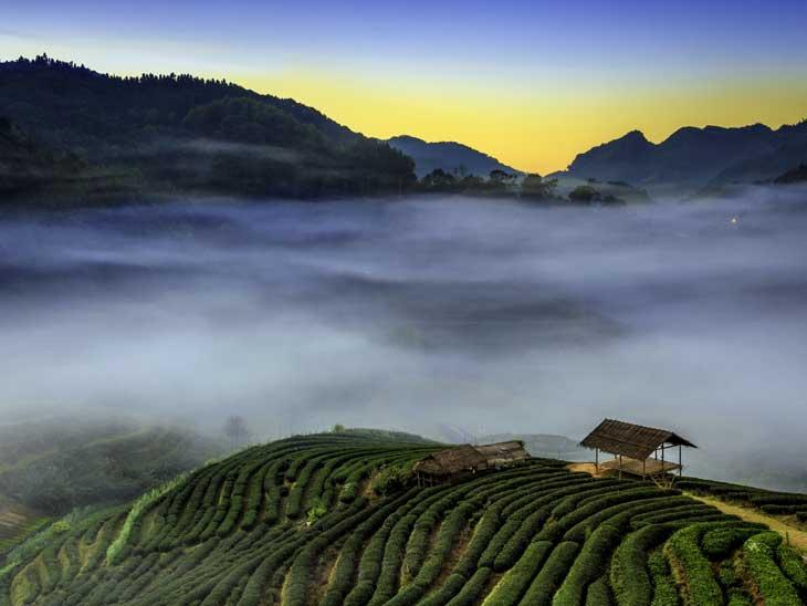 The hills around Chiang Mai, Thailand.