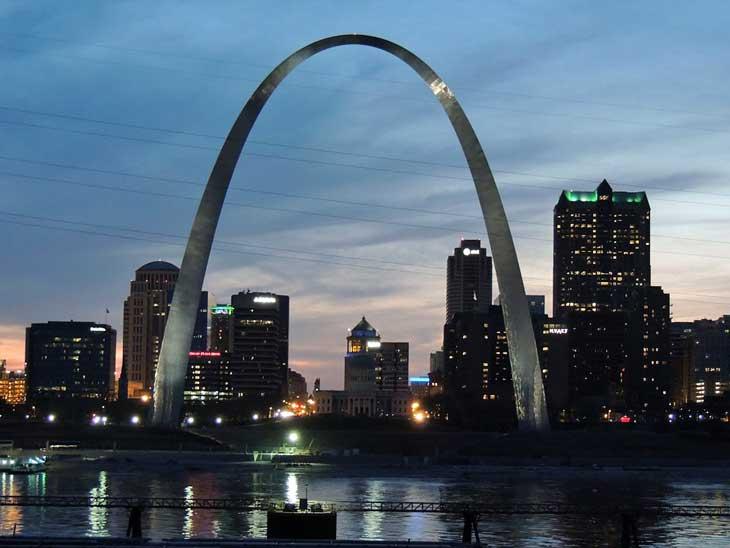 Gateway Arch in St. Louis.