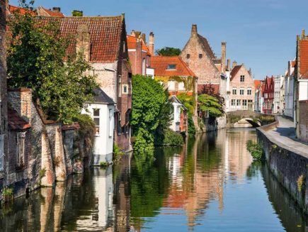 This is the beautiful city of Bruges in Flanders, Belgium.