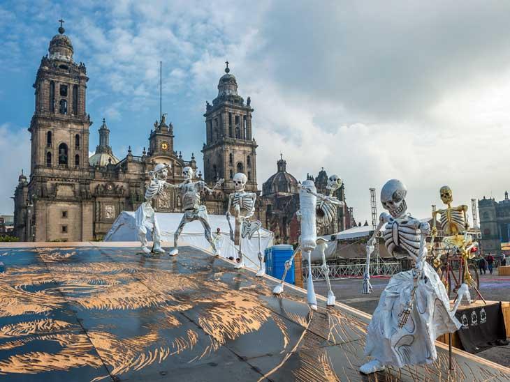 Dia de los muertos in Mexico City, Mexico.