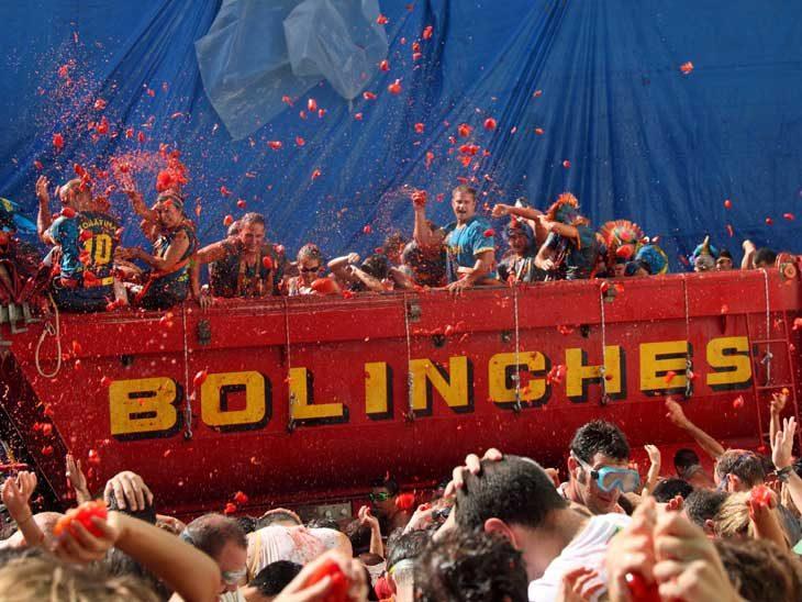 La Tomatina Festival in Bunos, Spain