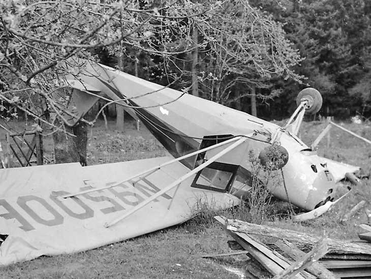 Crashed plane.