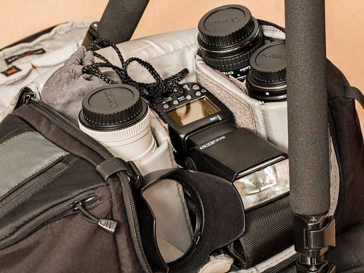 Use a good back pack to protect your camera gear.