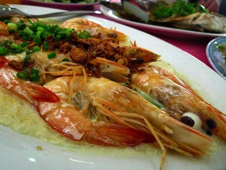 Food at Lankayan Island, Malaysia.