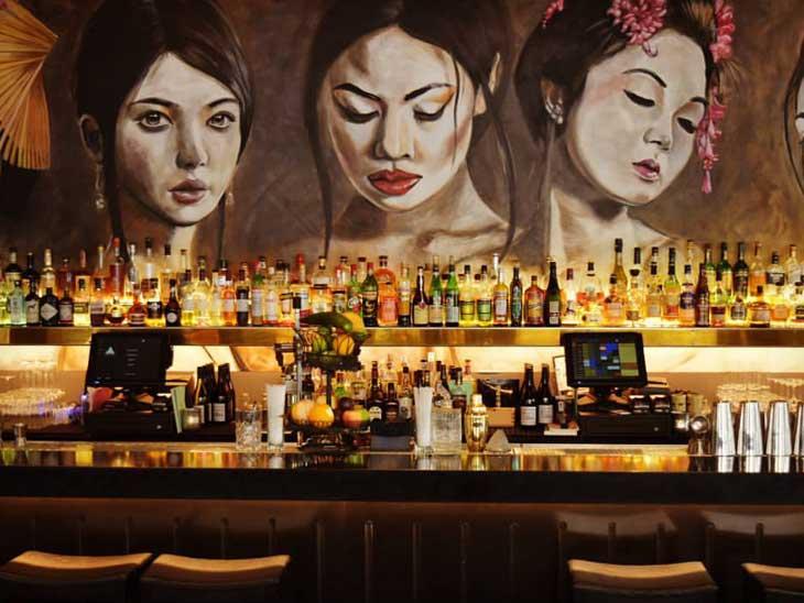 The bar at Lokal Izakaya, Kungsholmen.