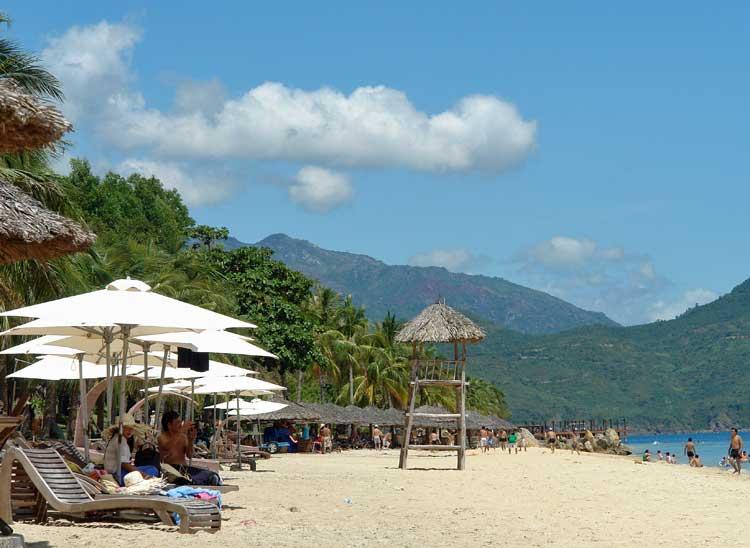 Beach in Nha Trang, Vietnam.