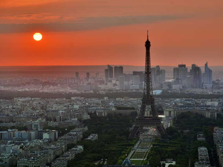 Sunset over Paris.