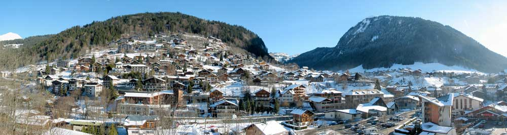 Panorama of Morzine valley.