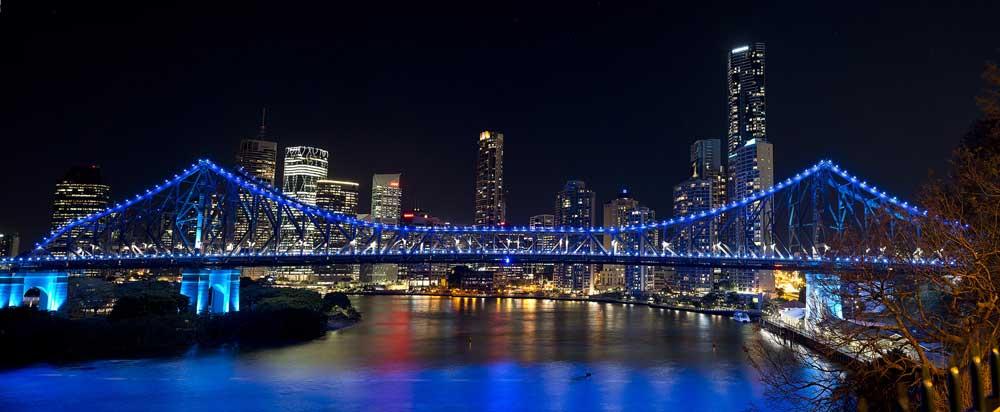 Brisbane at night.