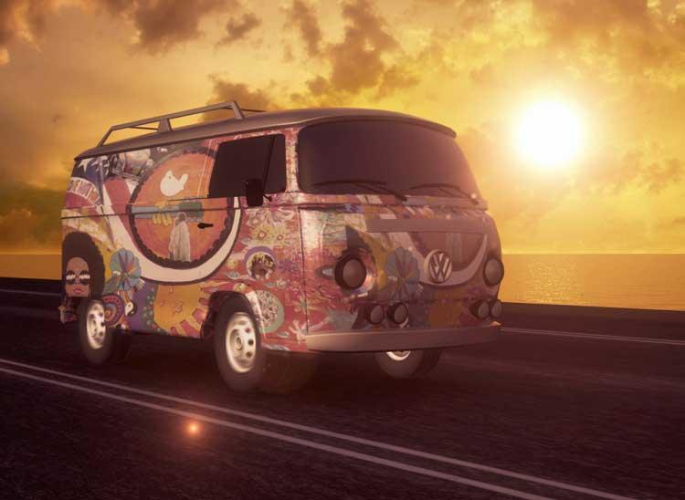 Hippy campervan.