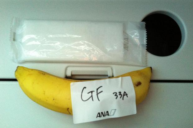 The gluten free breakfast one passenger received on Tokyo - Sydney, a 9 hour flight!